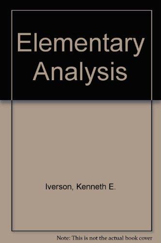 9780917326011: Elementary Analysis