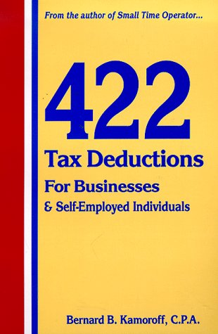 9780917510113: 422 Tax Deductions for Businesses and Self-Employed Individuals : You Get a Raise Every Time You Find a Legitimate Tax Deduction
