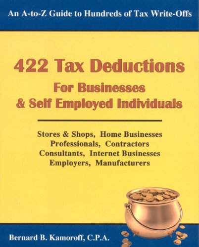 9780917510298: 422 Tax Deductions for Businesses and Self Employed Individuals