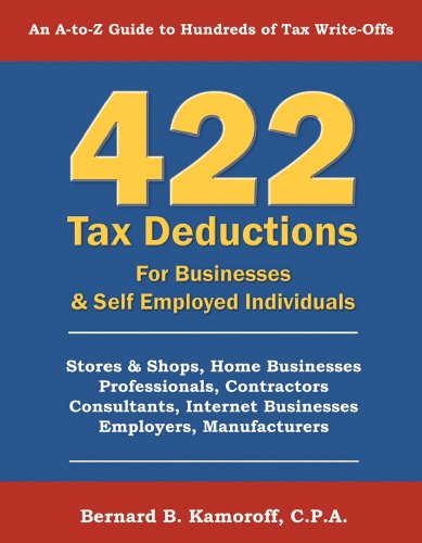9780917510311: 422 Tax Deductions For Businesses and Self Employed Individuals 9th Edition.