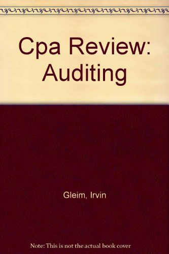 9780917537585: Cpa Review: Auditing