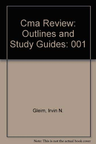 9780917537684: Cma Review: Outlines and Study Guides: 001