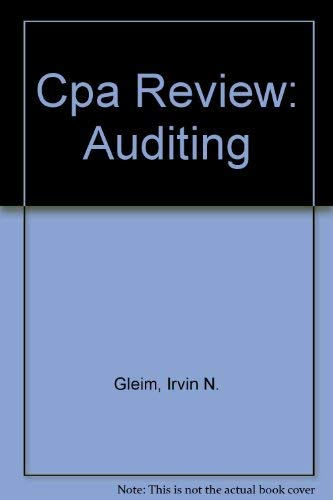 9780917537776: Cpa Review: Auditing
