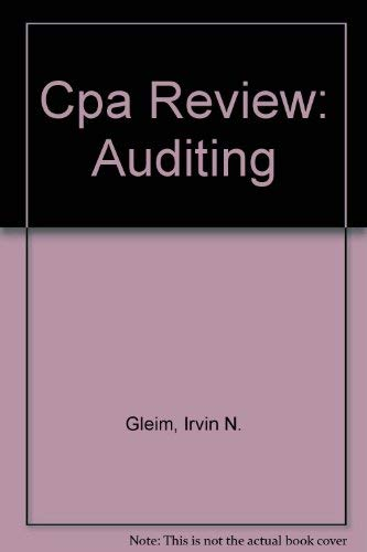 9780917537905: Cpa Review: Auditing