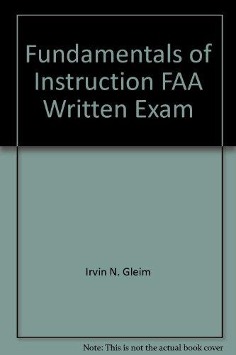 9780917539077: Fundamentals of Instruction FAA Written Exam