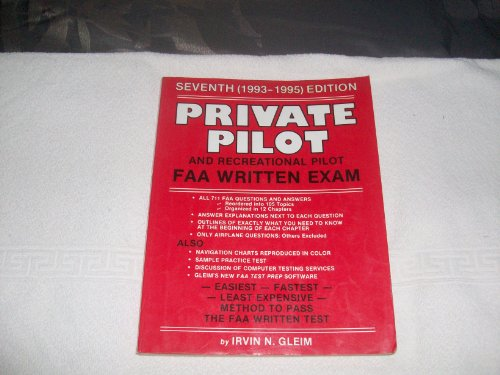 9780917539435: Private Pilot and Recreation FAA Written Exam