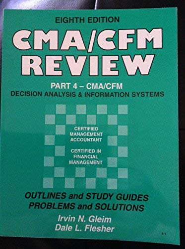 9780917539794: Cma Review: Outlines and Study Guides