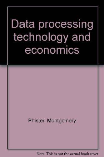 9780917640018: Data processing technology and economics
