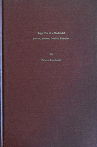9780917786075: Edgar Poe Et LA Modernite: Breton, Barthes, Derrida, Blanchot (French Edition)
