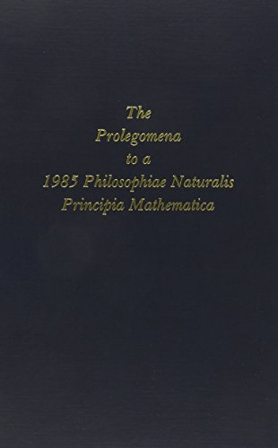 The Prolegomena to a Nineteen Eighty-Five Philosophiae: Northrop, F. S.