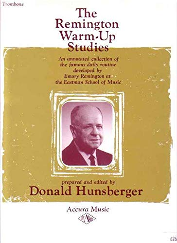 9780918194107: Remington Warm-Up Studies for Trombone