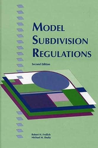 9780918286888: Model Subdivision Regulations