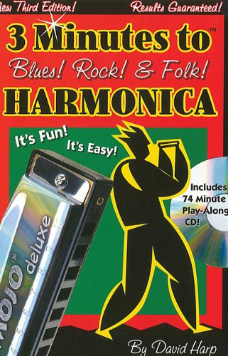 9780918321886: 3 Minutes to Blues! Rock! and Folk! Harmonica