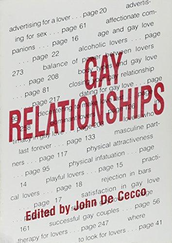 Gay Relationships: Dececco Phd, John