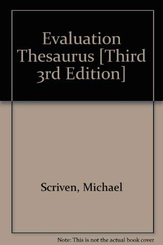 9780918528186: Evaluation Thesaurus (3rd ed.)