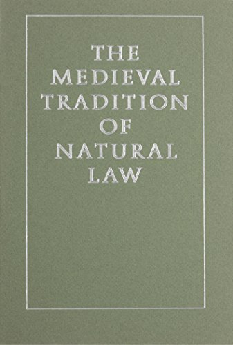 Medieval Tradition of Natural Law (Studies in Medieval Culture): Harold J. Johnson
