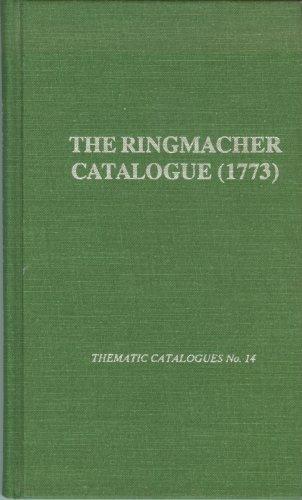 The Ringmacher Catalogue/1773: Catalogo De'Soli, Duetti, Trii.Berlin 1773 (Thematic ...