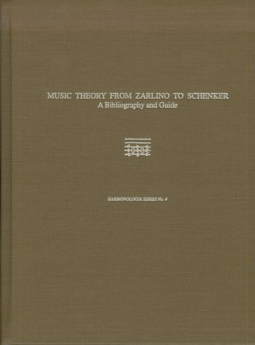 9780918728999: Music Theory from Zarlino to Schenker: A Bibliography and Guide