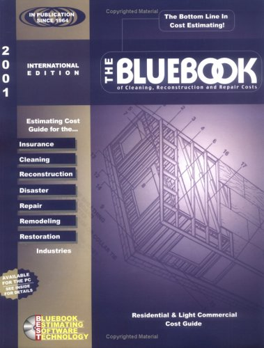 9780918767073: The Bluebook of Cleaning, Reconstruction and Repair Costs: 2001 International