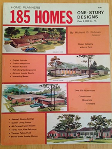 9780918894014: Home planners 185 homes: One-story designs over 2,000 sq. ft (Designs for convenient living)