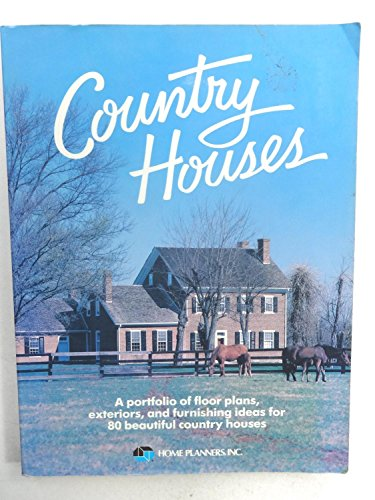 Country Houses : A Portfolio of Floor Plans,... on
