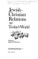 jewish christian relations The editorial board of studies in christian-jewish relations is pleased to announce the latest upload to the journal scjr is an open-access.
