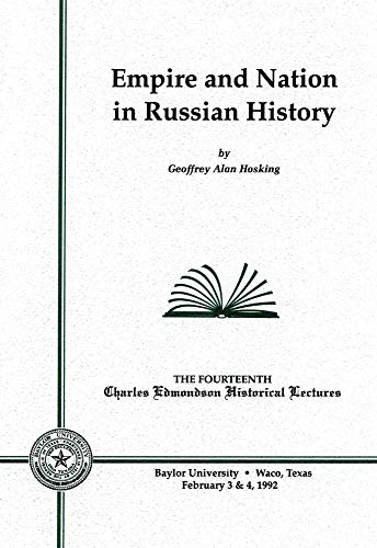9780918954596: Empire and Nation in Russian History (Charles Edmondson Historical Lectures)