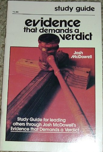 9780918956408: Evidence That Demands A Verdict Study Guide by Josh McDowell (1978-05-03)
