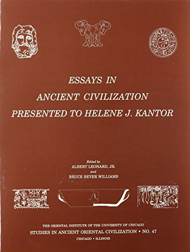 9780918986573: Essays in Ancient Civilization Presented to Helene J. Kantor (Studies in Ancient Oriental Civilization)