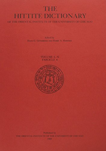 9780918986580: The Hittite Dictionary of the Oriental Institute of the University of Chicago/Volume L-N: L-N Fascicle 4