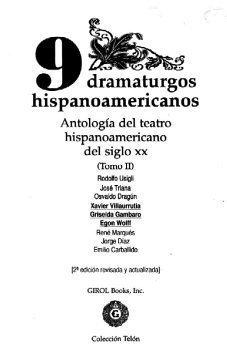 9780919659384: 9 Dramaturgos Hispanoamericanos Antologia del Teatro del Siglo XX Tomo 2