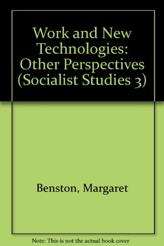 9780919946835: Work and New Technologies: Other Perspectives (Socialist Studies 3)