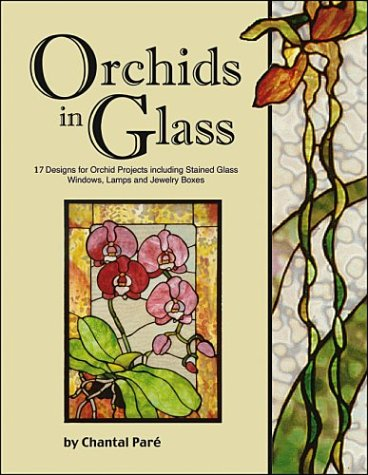 Orchids in Glass - 17 Designs of Stained Glass Windows Lamps & Boxes: Chantal Pare