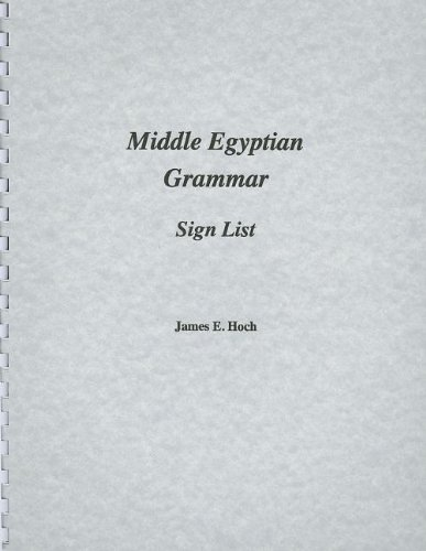 9780920168141: Middle Egyptian Grammar: Sign List