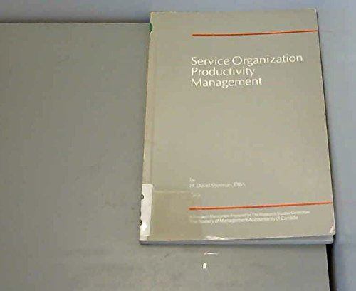 Service Organization Productivity Management