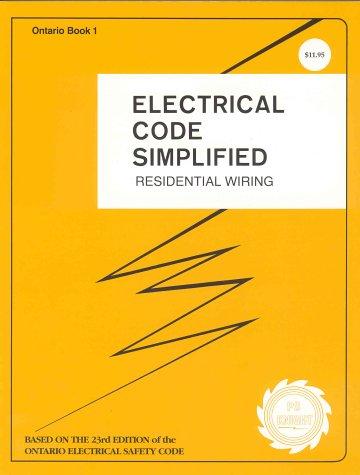 ontario electrical code simplified abebooks rh abebooks com Wiring Simplified 43rd Edition NEC Wiring Code