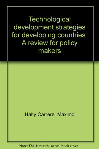 9780920380246: Technological development strategies for developing countries: A review for policy makers