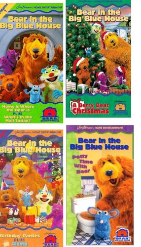 9780920431412: Bear in the Big Blue House set 4 vhs: Bear in the Big Blue House, Vol. 1 - Home Is Where the Bear Is / What's in the Mail Today, ear in the Big Blue House - Berry Bear Christmas , Bear in the Big Blue House, Vol. 7 - Birthday Parties / Giving , Bear in the Big Blue House - Potty Time with Bear