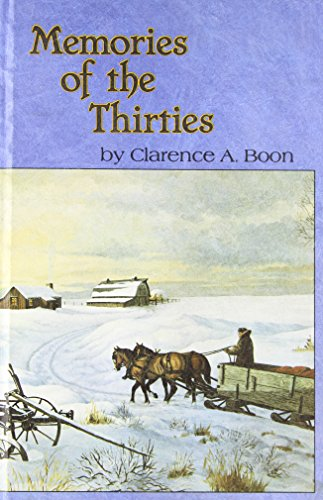 Memories of the Thirties: Boon, Clarence A.