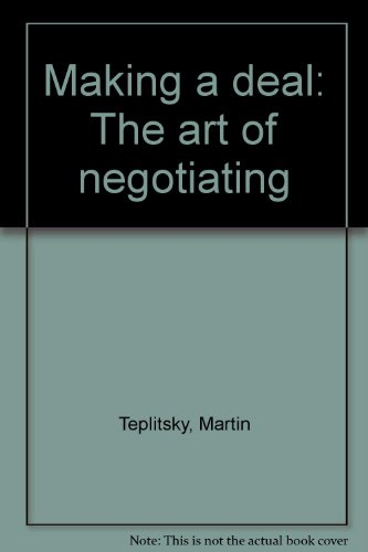 9780920450048: Making A Deal : The art of negotiating