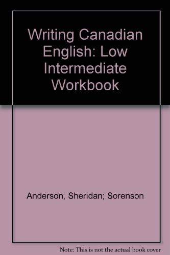 9780920490303: Writing Canadian English: Low Intermediate Workbook