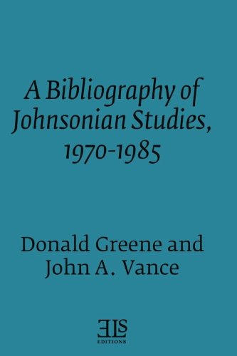 Bibliography of Johnsonian Studies, 1970-1985