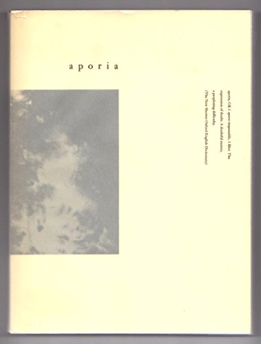 Aporia. A Book of Landscapes: Grauerholz, Angela
