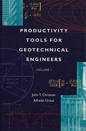 PRODUCTIVITY TOOLS FOR GEOTECHNICAL ENGINEERS: Volume I.: Christian, John T. and Alfredo Urzua.