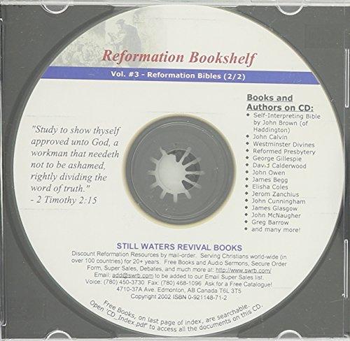REFORMATION BOOKSHELF CD (Volume 3 of 30): John Brown; Calvin;