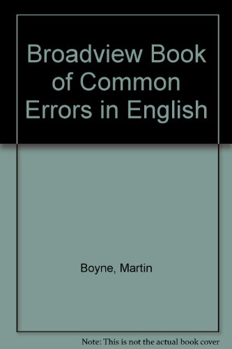 9780921149095: Broadview Book of Common Errors in English