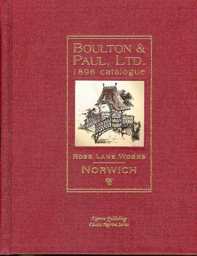 Boulton & Paul, Ltd. 1898 Catalogue