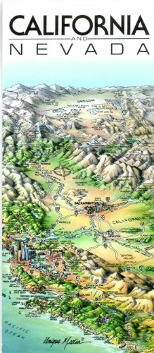 Unique Media Map : California and Nevada/Folded: Media, Unique
