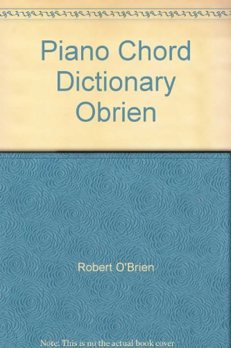 9780921965046: Piano Chord Dictionary Obrien