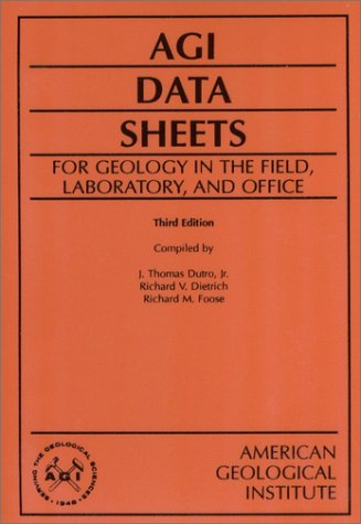 9780922152018: Agi Data Sheets: For Geology in the Field Laboratory and Office